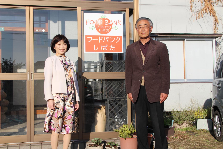 インタビューを終えた土田雅穂さんと打越さく良のツーショット。