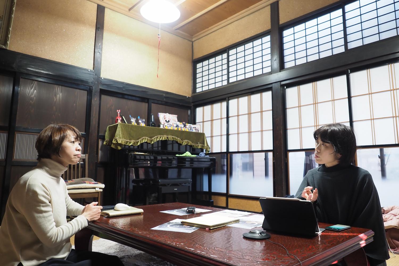 岩崎さんのご自宅でお話を聴く。